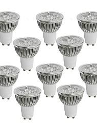 4W GU10 Spot LED 4 LED Haute Puissance 360-400 lm Blanc Chaud / Blanc Froid / Blanc Naturel AC 85-265 V 10 pièces