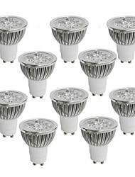 4W GU10 LED Spotlight 4 High Power LED 350-400 lm Warm White Cool White Natural White AC 85-265 V 10 pcs
