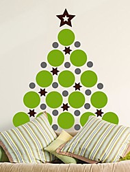 Wall Stickers Wall Decals,  Modern Christmas Circle tree PVC Wall Stickers