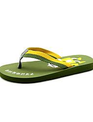 Zapatillas ( Verde ) - Deslizar/Comfort - Tejido
