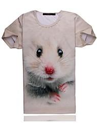 GO-BOY  Creative 3D Design Short Sleeve T-shirt In Summer