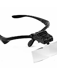 Magnifiers/Magnifier Glasses Headset/Eyewear 4.9x & Under Plastic
