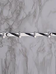ganchos para toallas, juego de 5 contemporánea pared de latón cromado montados