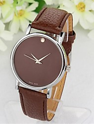 Woli Women's Round Dial Pu Leather Band  Quartz Watch