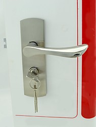 Brushed Nickel Alloy One Set Door Lock Key Hole