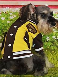 Cat / Dog Coat / Shirt / T-Shirt / Clothes/Clothing Blue / Pink / Yellow / Gray Winter Sport Wedding / Cosplay