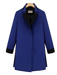 Melantha couleur de contraste long manteau