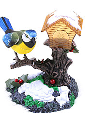 Christmas Voice-Control Bird with Light House Toys(Yellow)