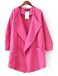 irregulares grandes cores lapela doces das mulheres casaco fluido