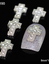 10pcs glitter passage bricolage accessoires de strass en alliage art de la décoration des ongles