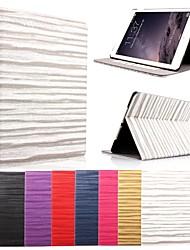 karzea® motif de vague veille automatique et réveil étui en cuir PU avec support et un stylet pour iPad mini-1/2/3 (couleurs assorties)
