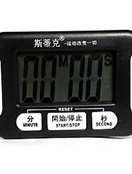 1 / 100s seule ligne 0 ~ 100min avec compte à rebours chronomètre numérique pour la cuisine