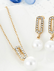 Women Party / Casual Alloy / Imitation Pearl Necklace / Earrings Sets