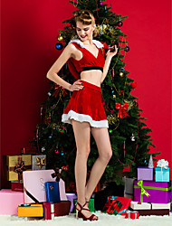 Performance Women's Christmas Costume Dress(Hat Included)