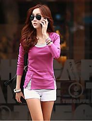 falari finto cotone coreano delle donne 2 pezzi maglietta basante sottile