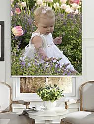Baby In Flowering Shrubs Roller Sahde