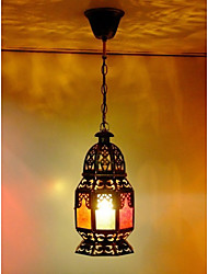 Flush Mount 1 Light Classical Droplight Restoring Ancient Ways Antique Brass Spray Lacquer Glass Metal