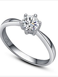 Women's Silver Wedding Ring With Cubic Zirconia