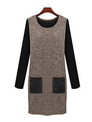 Mufans Women's Fitted Dress 1454#