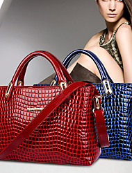 VENCHY European Fashion Crocodile Pattern Single Shoulder Handbag  10031 Black,Blue,Red