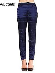 Women's Bodycon/Plus Sizes Pants Inelastic Blue/Red/Green