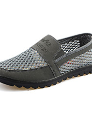 Men's Shoes Outdoor Fabric Loafers Gray/Tan