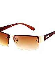 Óculos de Sol Homens's Clássico / Esportivo / Fashion Retângular Marrom / Verde / Cinzento / Cinzento Escuro Óculos de Sol Sem Moldura