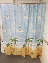 albero di cocco doccia in poliestere tenda