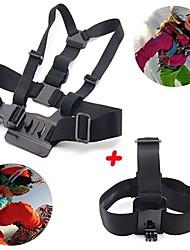 Gopro Accessories 2 in 1 kit Chest Strap + Head Strap for GoPro Hero 1 2 3 3+ 4 SJ4000 Sport Cameras
