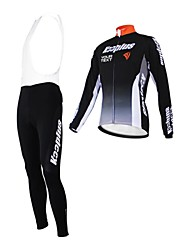 KOOPLUS® Cycling Jersey with Bib Tights Women's / Men's / Unisex Long Sleeve BikeBreathable / Thermal / Warm / Waterproof Zipper /
