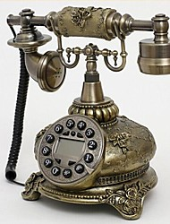 Europr Style Polyresin Material Home Decor Telephone with ID Display, Antique Bronze