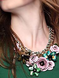 Джейн Камень Новое прибытие Красочные Rhinestone ожерелья цветка Женщины Модные аксессуары
