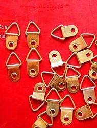 12pcs / set blocage accessoires 1.0cm couleur or