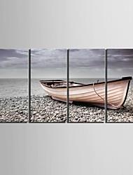 e-FOYER étiré sur toile arrêter la rive navire décoratif ensemble de quatre de peinture