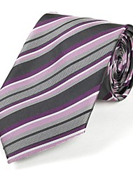 Men Party / Work / Casual Neck Tie,Other Striped All Seasons