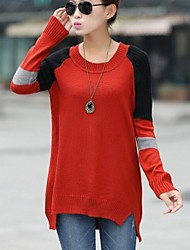 Women's Round Collar  Big Code Maternity Sweaters