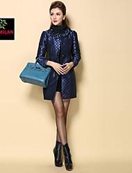 yimilan® haut de gamme panneau de façade boutique perle tempérament convenable trench des femmes