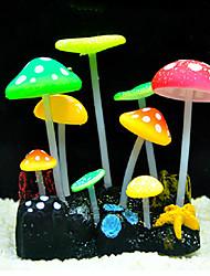fluorescente champignons ornement conception de décoration pour aquarium