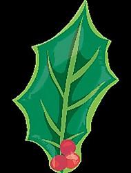 Christmas Tree Leaf Metallic Balloons