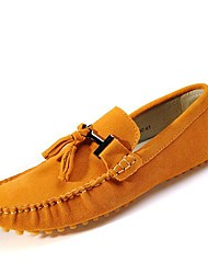Men's Shoes Casual Leather Boat Shoes Blue/Brown/Yellow/Green/Gray