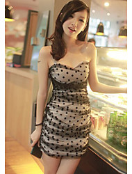 Stylish Elegant Slim Dot Decorated Charming Dress