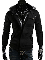 nono  Hooded Leisure Cardigan Hoodie (Black)