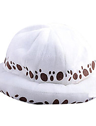 Hat/Cap Inspired by One Piece Trafalgar Law Anime Cosplay Accessories Cap / Hat White Terylene Male