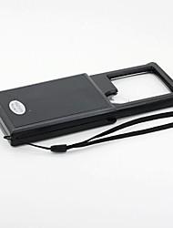 3X/6X LED White Light Multipurpose Pullout Magnifier - Black (3 x LR1130)