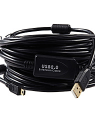 USB2.0 zu Mini-USB 5pin Kamera-Datenkabel für Canon / Nikon (7.5m, schwarz)