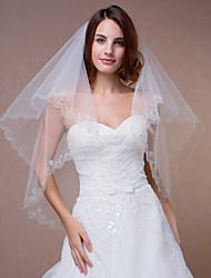 Wedding Veils One Tier Applique Edge With Comb