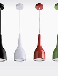 7w LED Bar Luces pendientes Copa Forma Comedor Luz LED Droplight AC85-265v