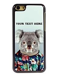 caja del teléfono personalizado - caso del diseño del metal de koala para 5c iphone