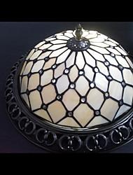 rincer lampe coquille de plafond tiffany monté