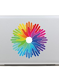 SKINAT Removable lovely beautiful colorful hand shape tablet sticker and laptop sticker for macbook Air 11,260x270mm